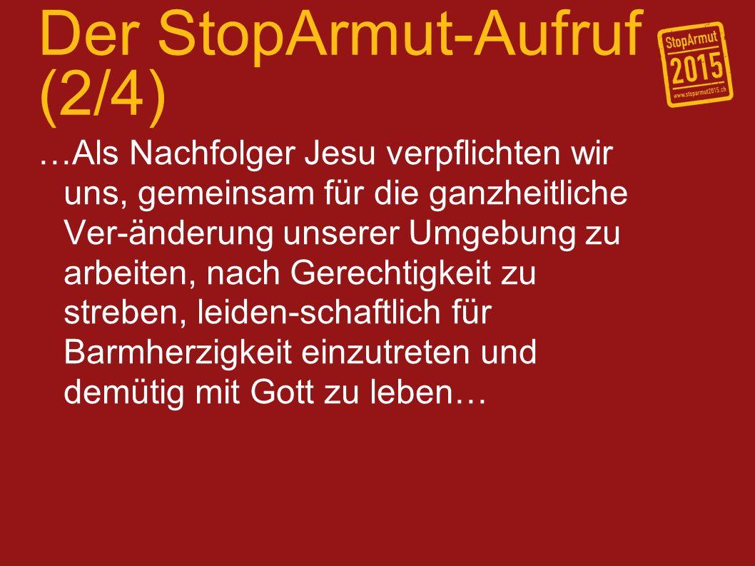 Der StopArmut-Aufruf (2/4)