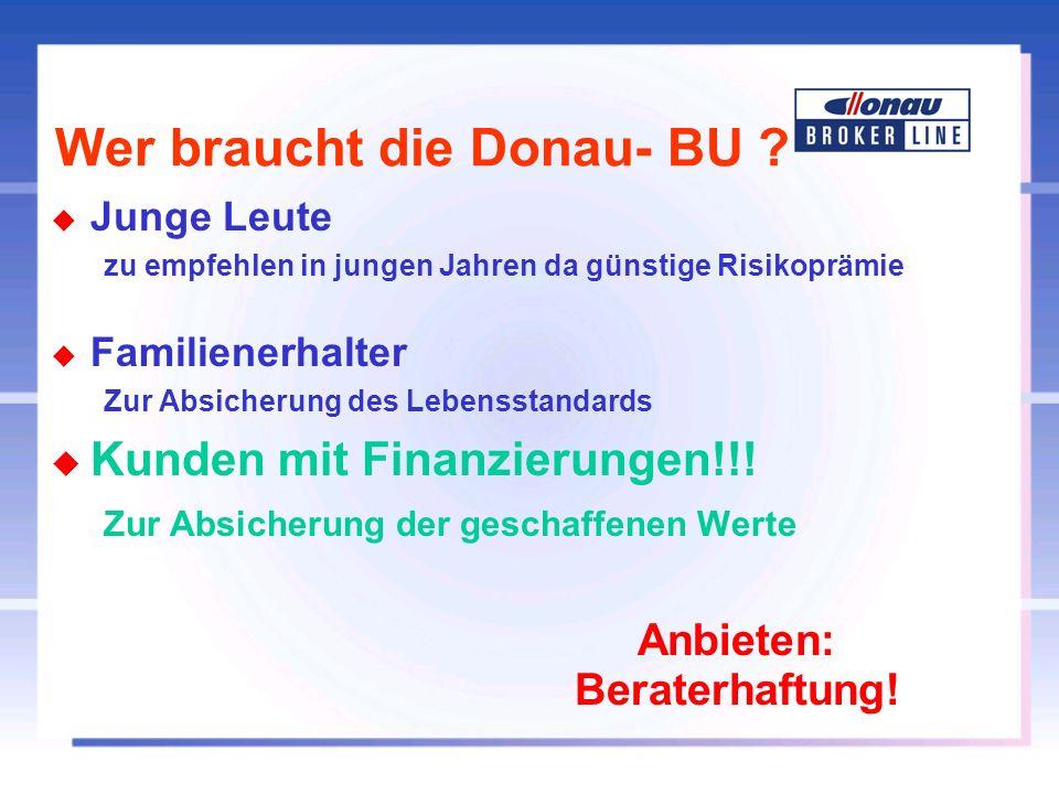 Wer braucht die Donau- BU