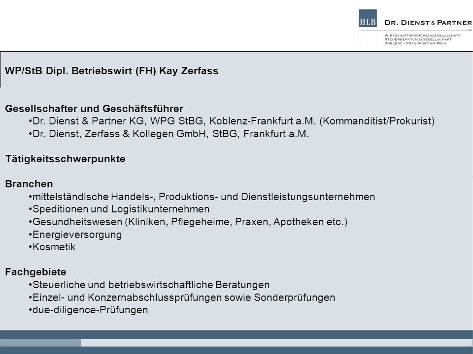 WP/StB Dipl. Betriebswirt (FH) Kay Zerfass