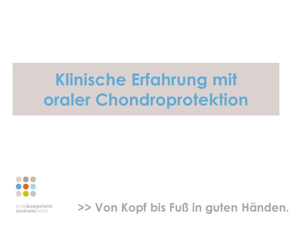 Klinische Erfahrung mit oraler Chondroprotektion