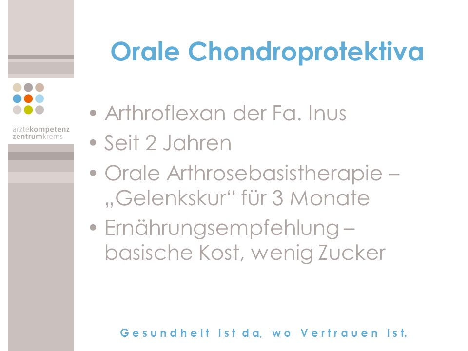 Orale Chondroprotektiva