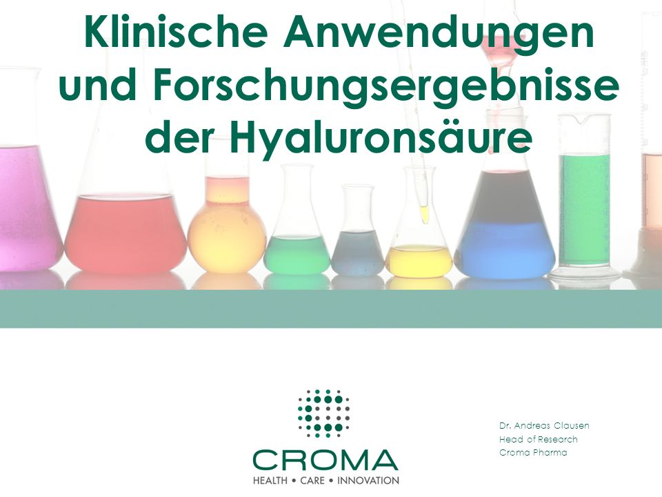 Klinische Anwendungen und Forschungsergebnisse der Hyaluronsäure