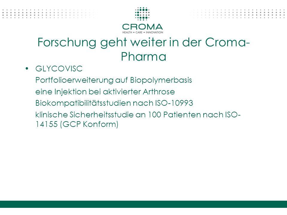 Forschung geht weiter in der Croma-Pharma