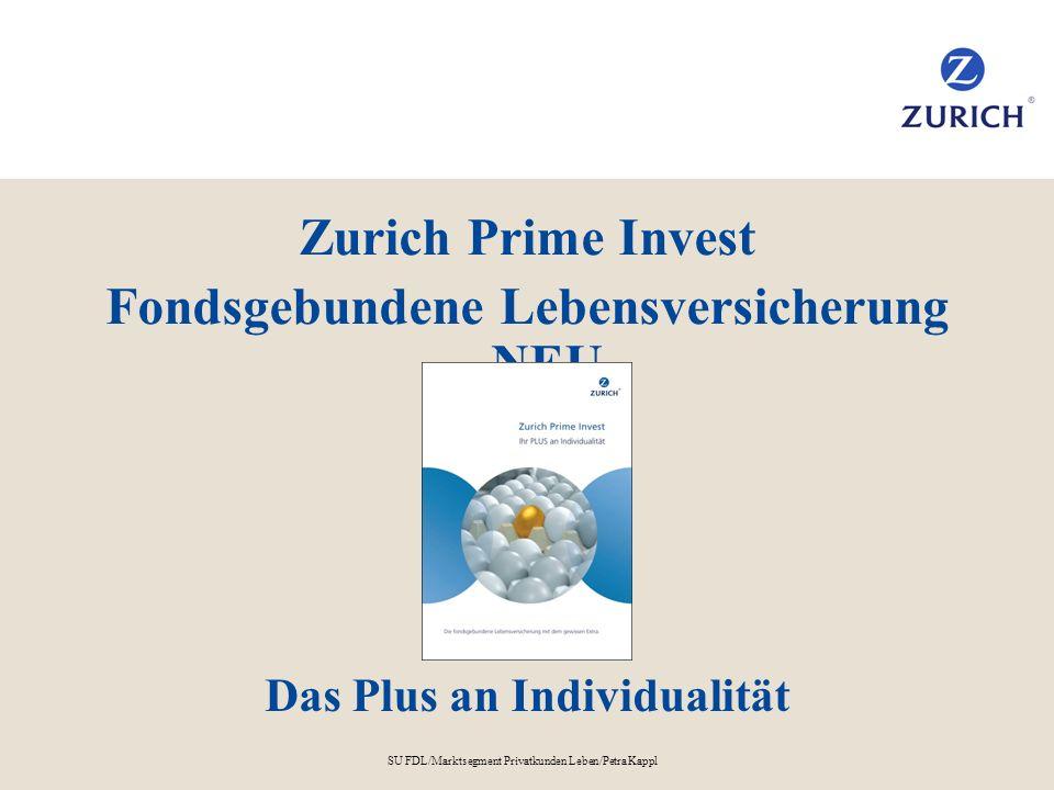 Fondsgebundene Lebensversicherung NEU Das Plus an Individualität