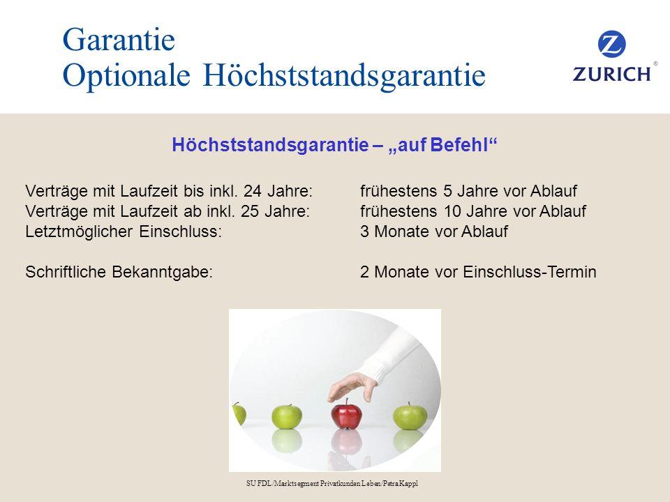 Garantie Optionale Höchststandsgarantie
