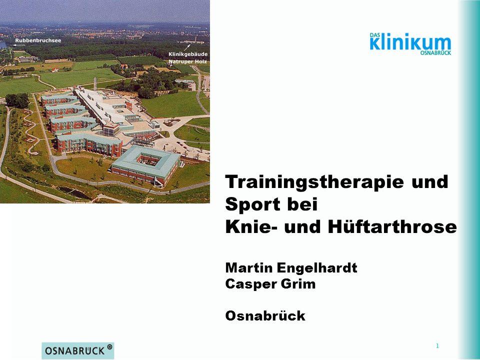 Trainingstherapie und Sport bei Knie- und Hüftarthrose