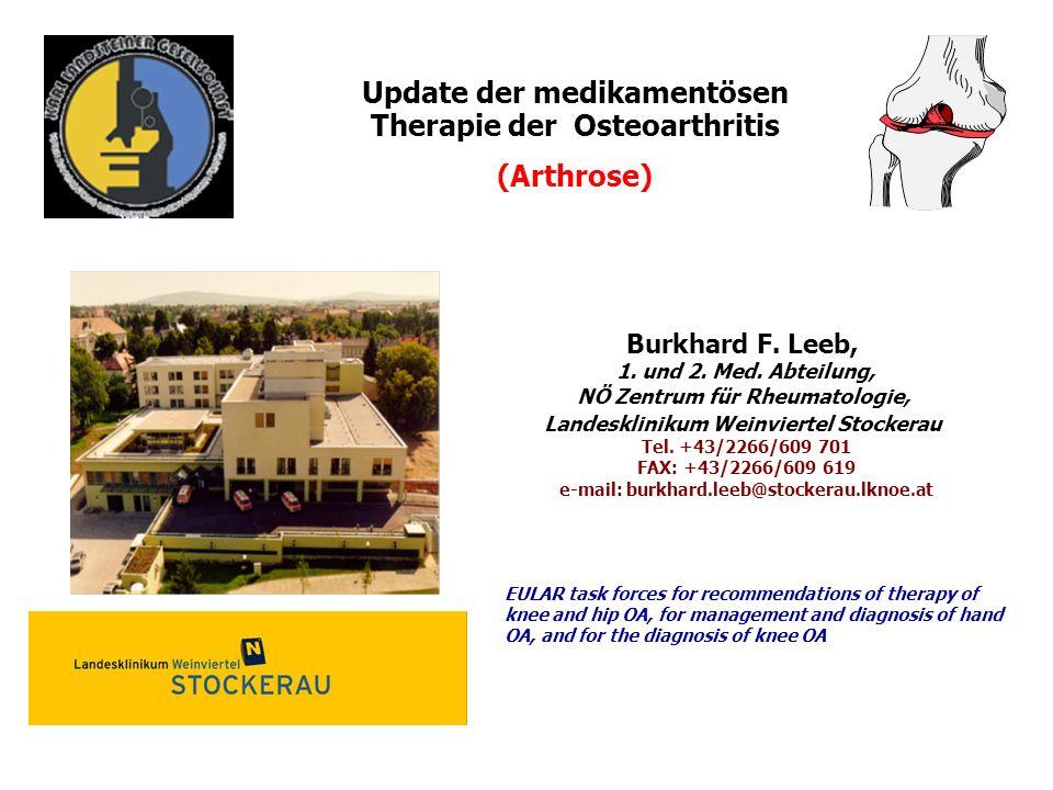 Update der medikamentösen Therapie der Osteoarthritis (Arthrose)