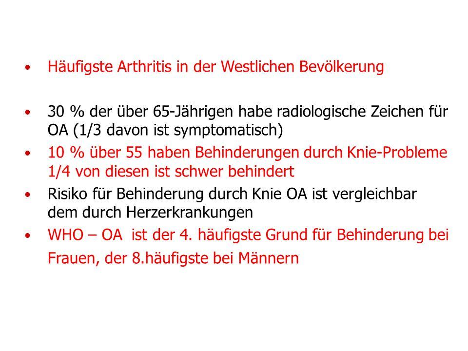 Häufigste Arthritis in der Westlichen Bevölkerung