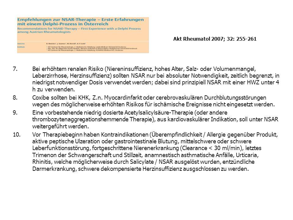 Akt Rheumatol 2007; 32: 255-261