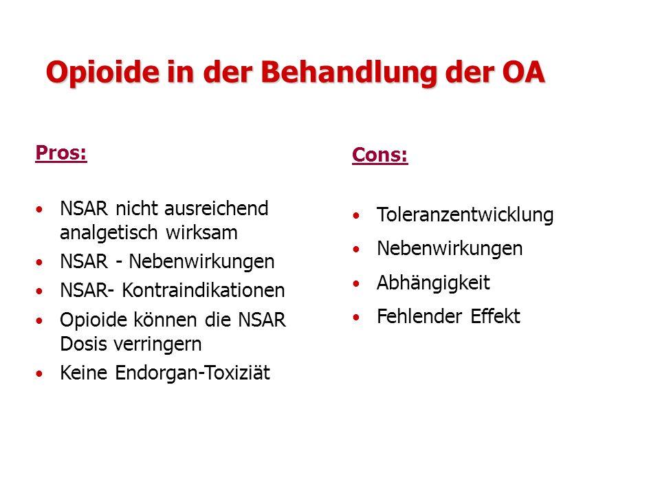 Opioide in der Behandlung der OA