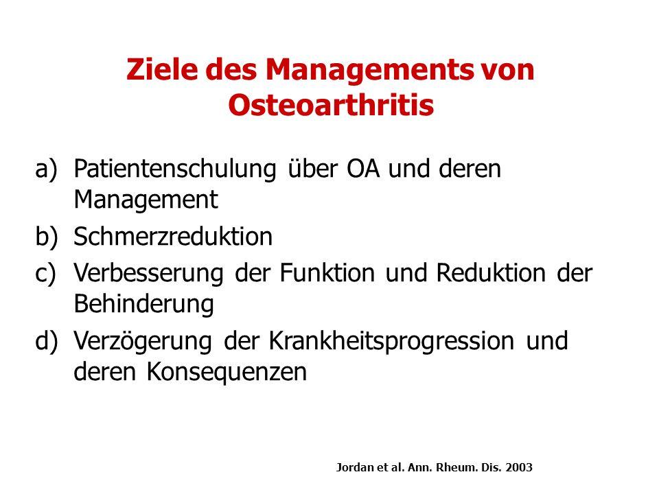 Ziele des Managements von Osteoarthritis