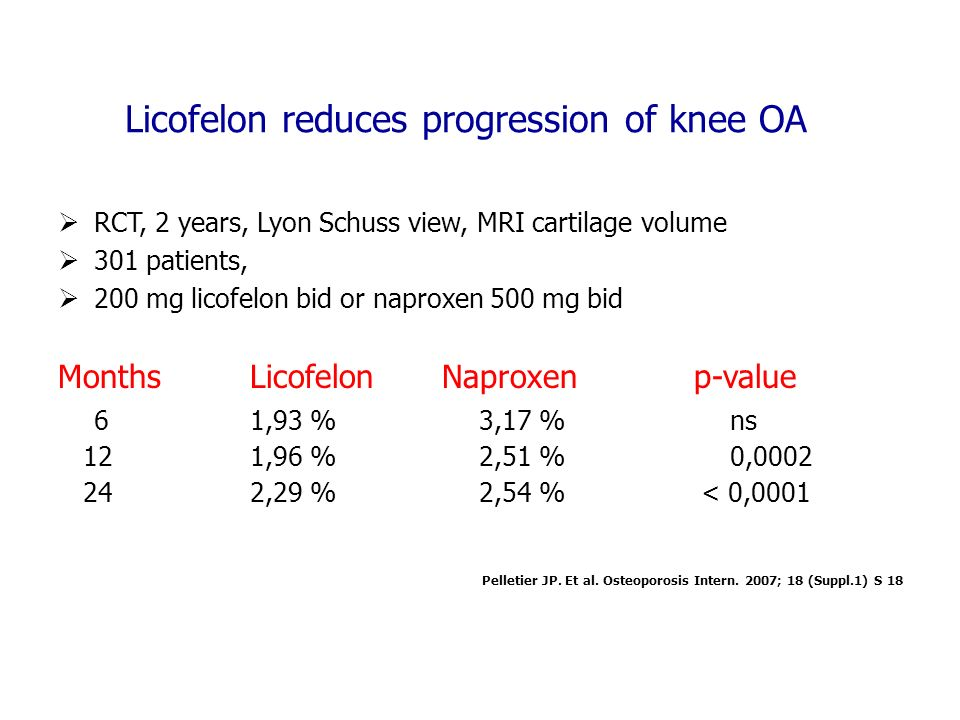 Licofelon reduces progression of knee OA
