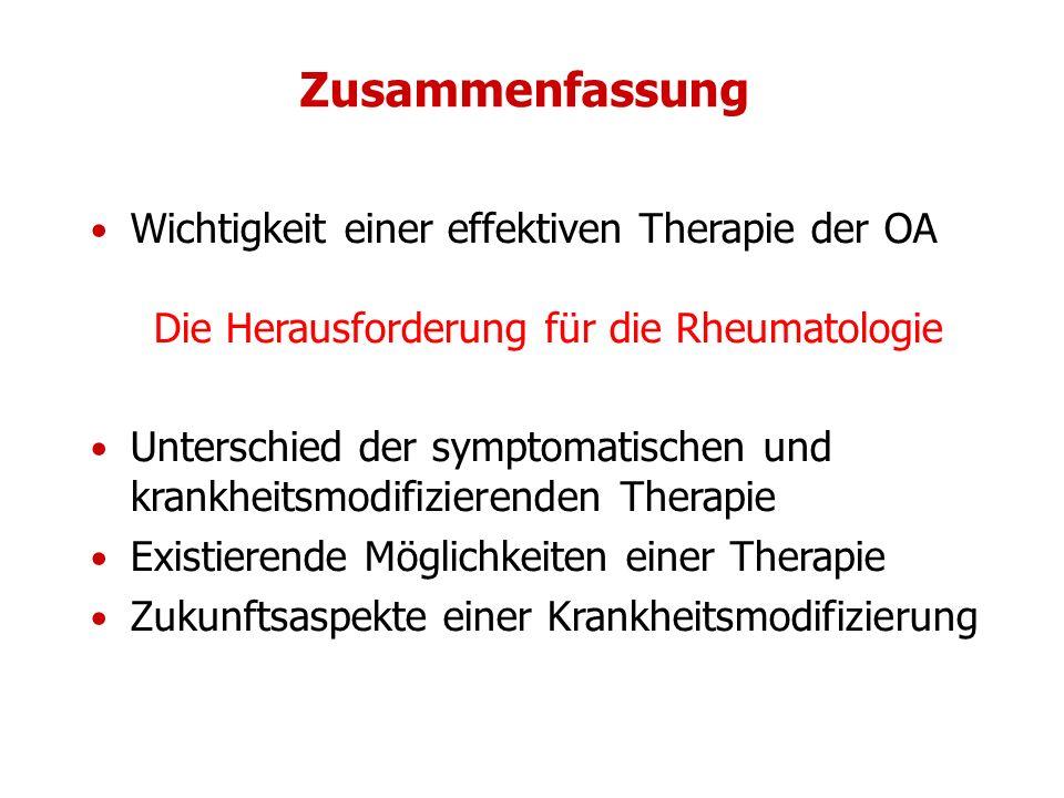 Die Herausforderung für die Rheumatologie