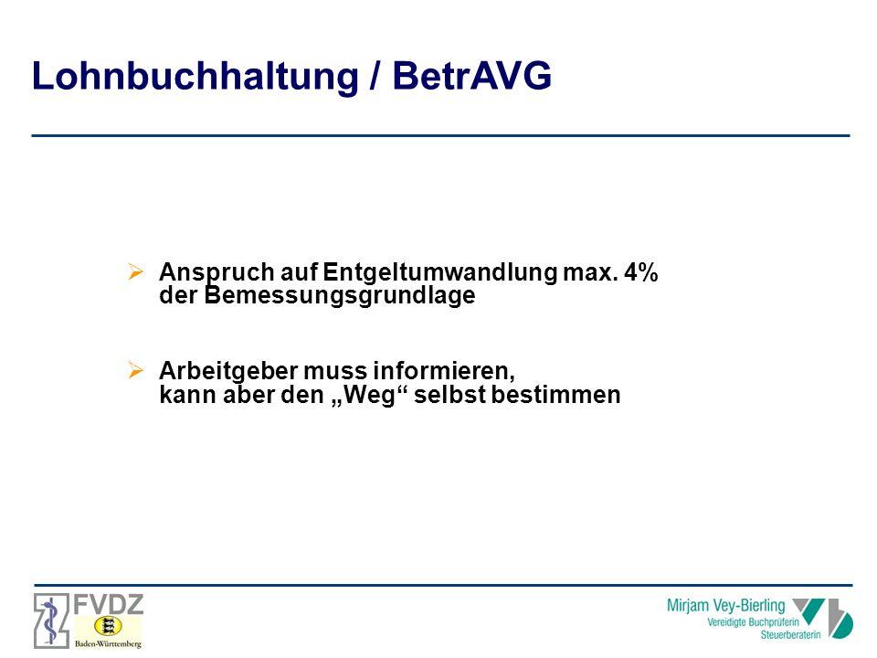 Lohnbuchhaltung / BetrAVG
