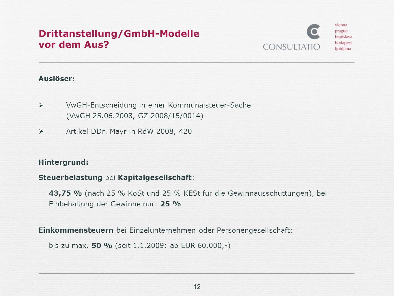 Drittanstellung/GmbH-Modelle vor dem Aus