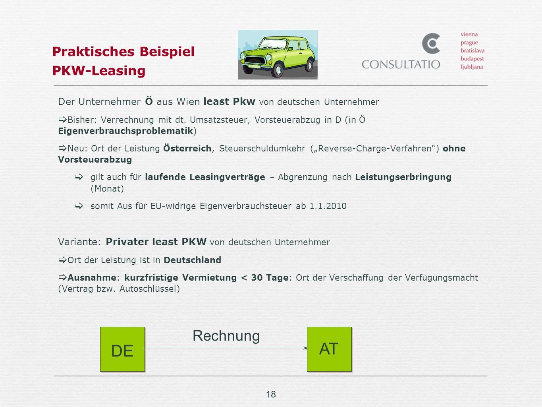 Praktisches Beispiel PKW-Leasing
