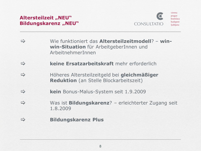"Altersteilzeit ""NEU Bildungskarenz ""NEU"