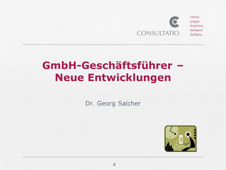 GmbH-Geschäftsführer – Neue Entwicklungen