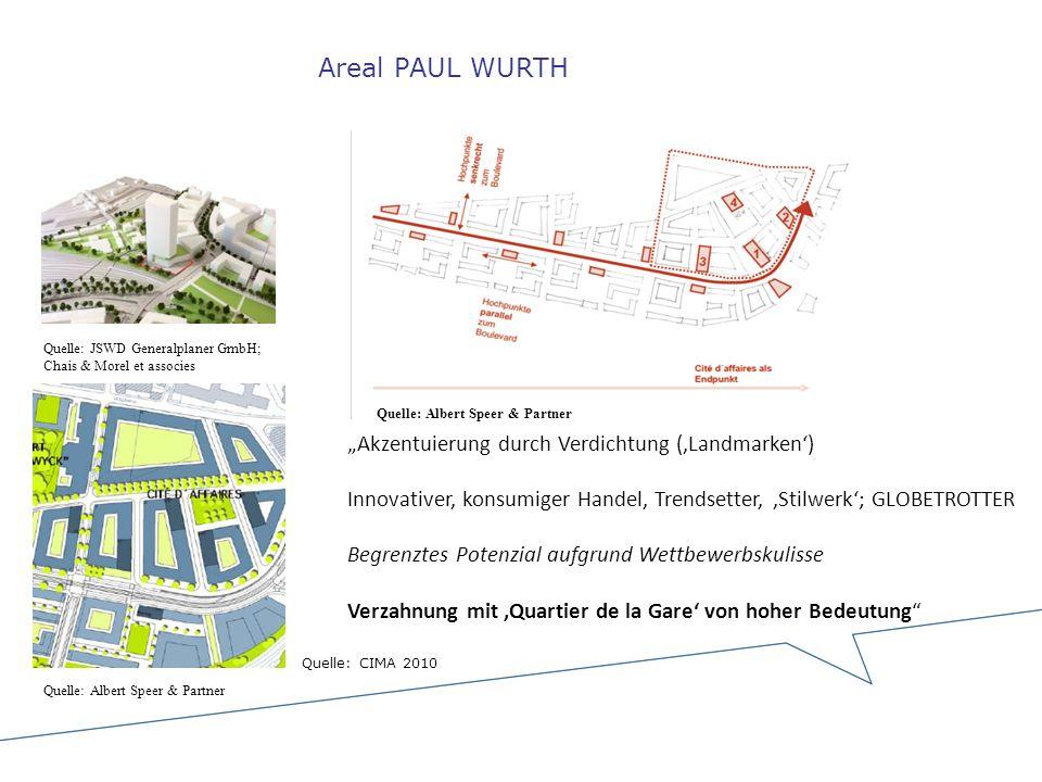 """Areal PAUL WURTH """"Akzentuierung durch Verdichtung ('Landmarken')"""