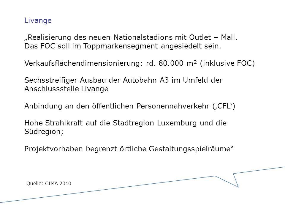 """Livange """"Realisierung des neuen Nationalstadions mit Outlet – Mall"""