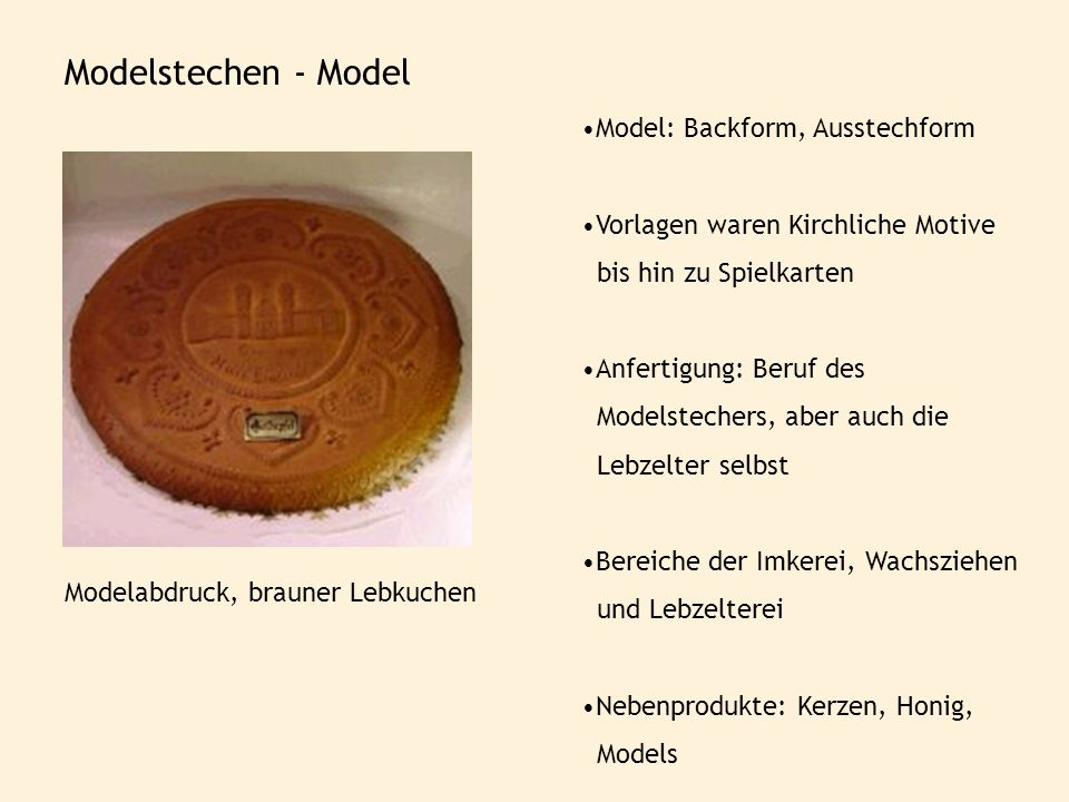 Modelstechen - Model Model: Backform, Ausstechform