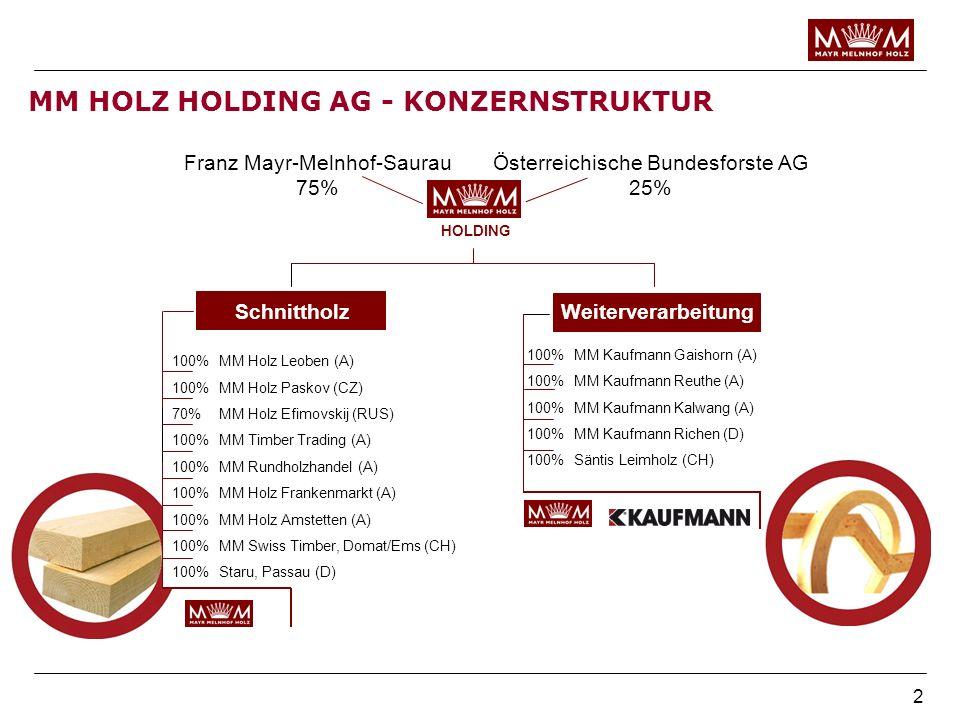 MM HOLZ HOLDING AG - KONZERNSTRUKTUR