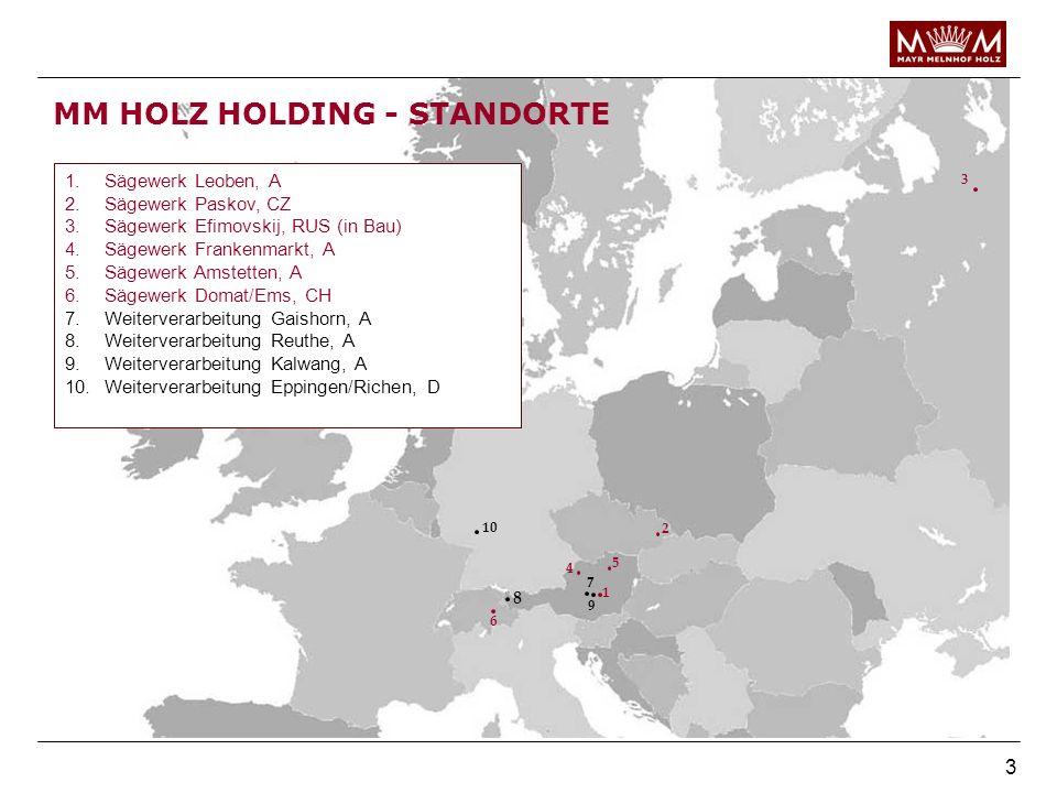 MM HOLZ HOLDING - STANDORTE