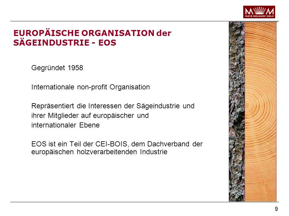 EUROPÄISCHE ORGANISATION der SÄGEINDUSTRIE - EOS