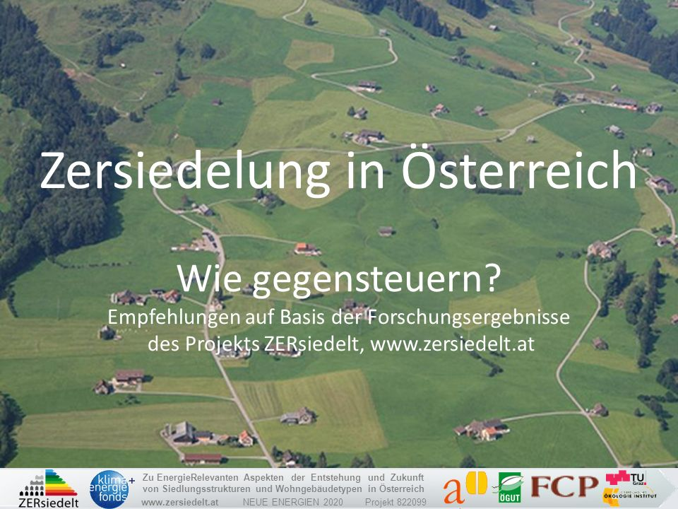 Zersiedelung in Österreich
