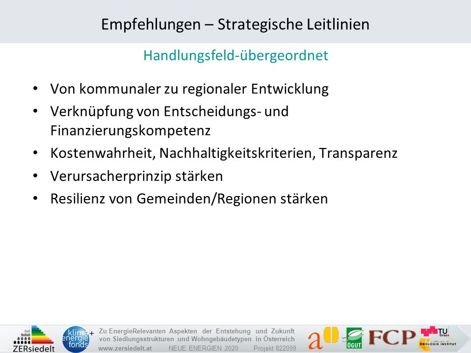 Empfehlungen – Strategische Leitlinien