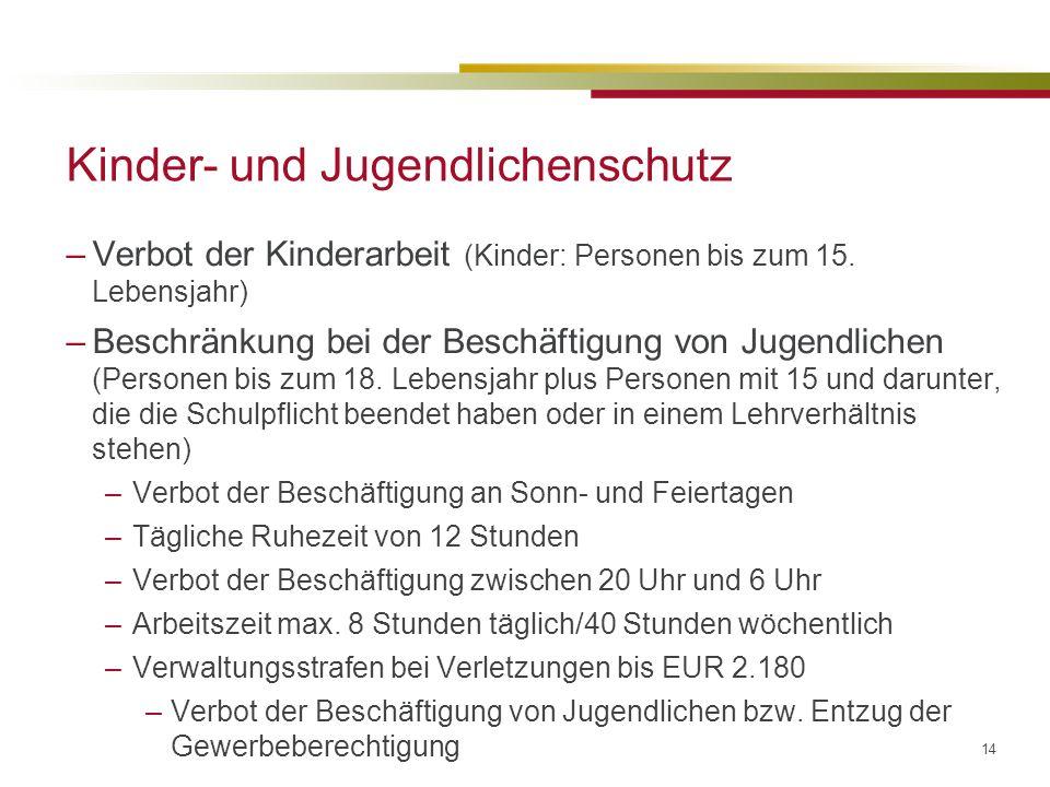 Kinder- und Jugendlichenschutz