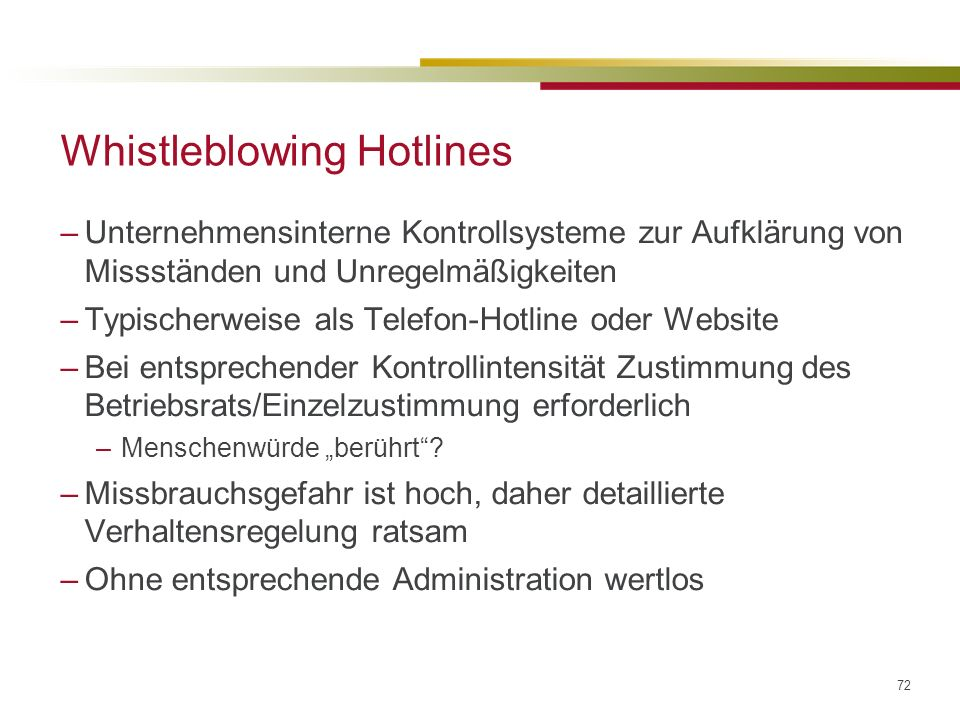 Whistleblowing Hotlines