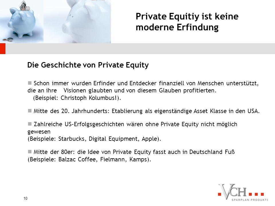 Private Equitiy ist keine moderne Erfindung