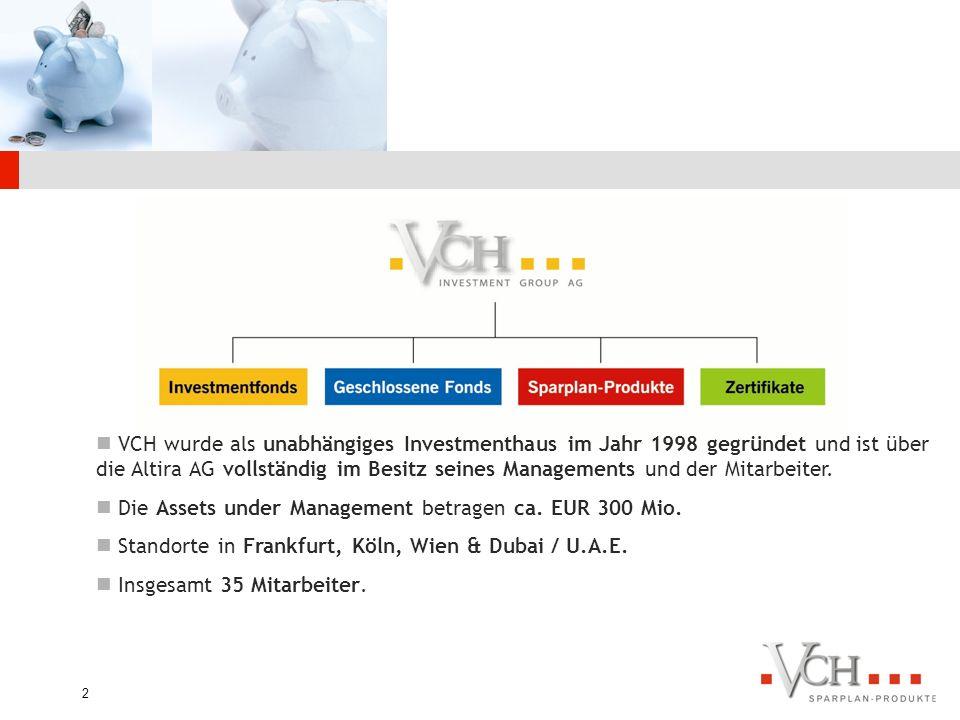 VCH wurde als unabhängiges Investmenthaus im Jahr 1998 gegründet und ist über die Altira AG vollständig im Besitz seines Managements und der Mitarbeiter.
