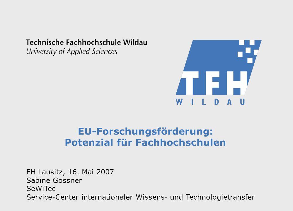 EU-Forschungsförderung: Potenzial für Fachhochschulen