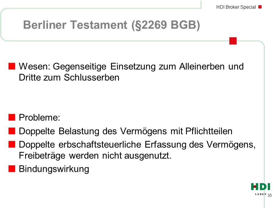 Berliner Testament (§2269 BGB)