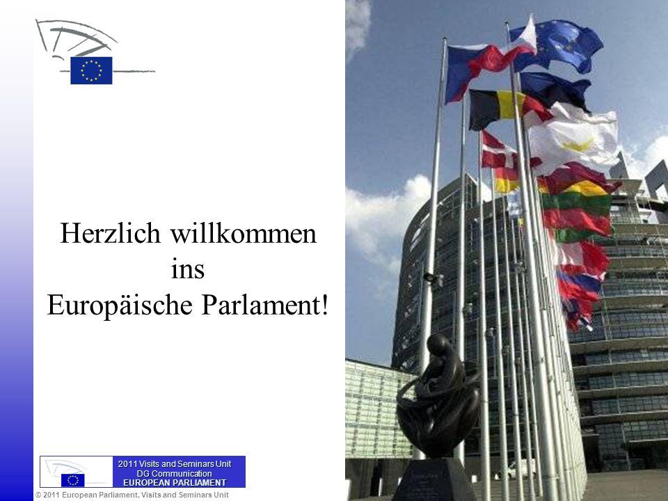 Herzlich willkommen ins Europäische Parlament!