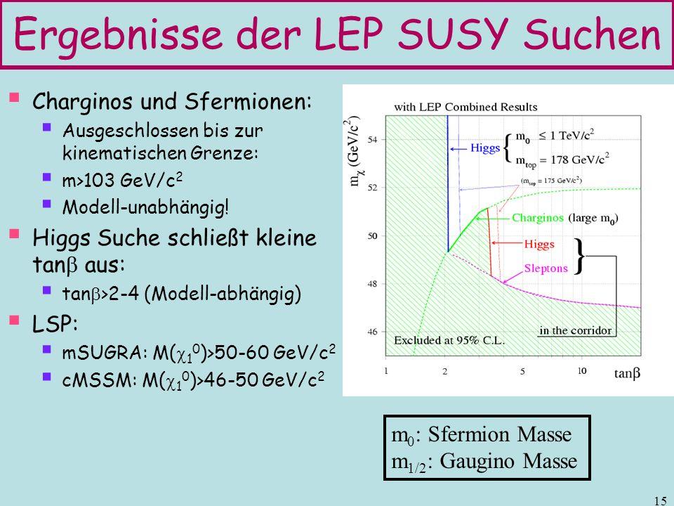 Ergebnisse der LEP SUSY Suchen