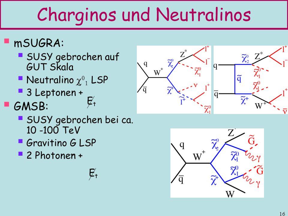 Charginos und Neutralinos