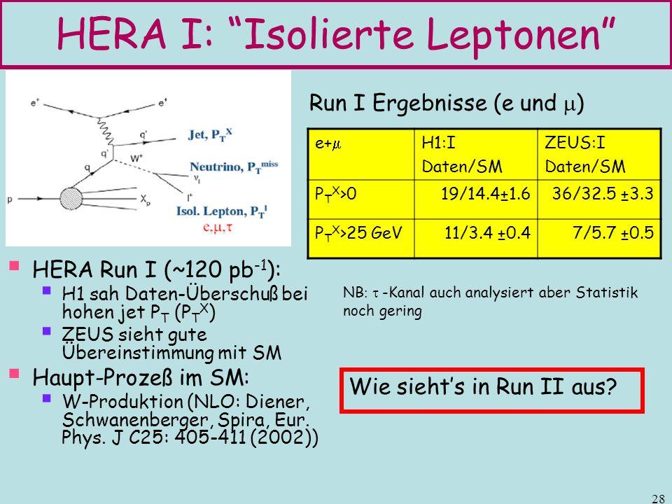 HERA I: Isolierte Leptonen