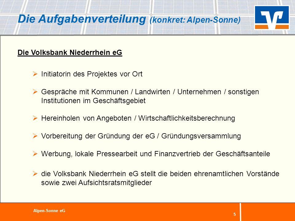 Die Aufgabenverteilung (konkret: Alpen-Sonne)