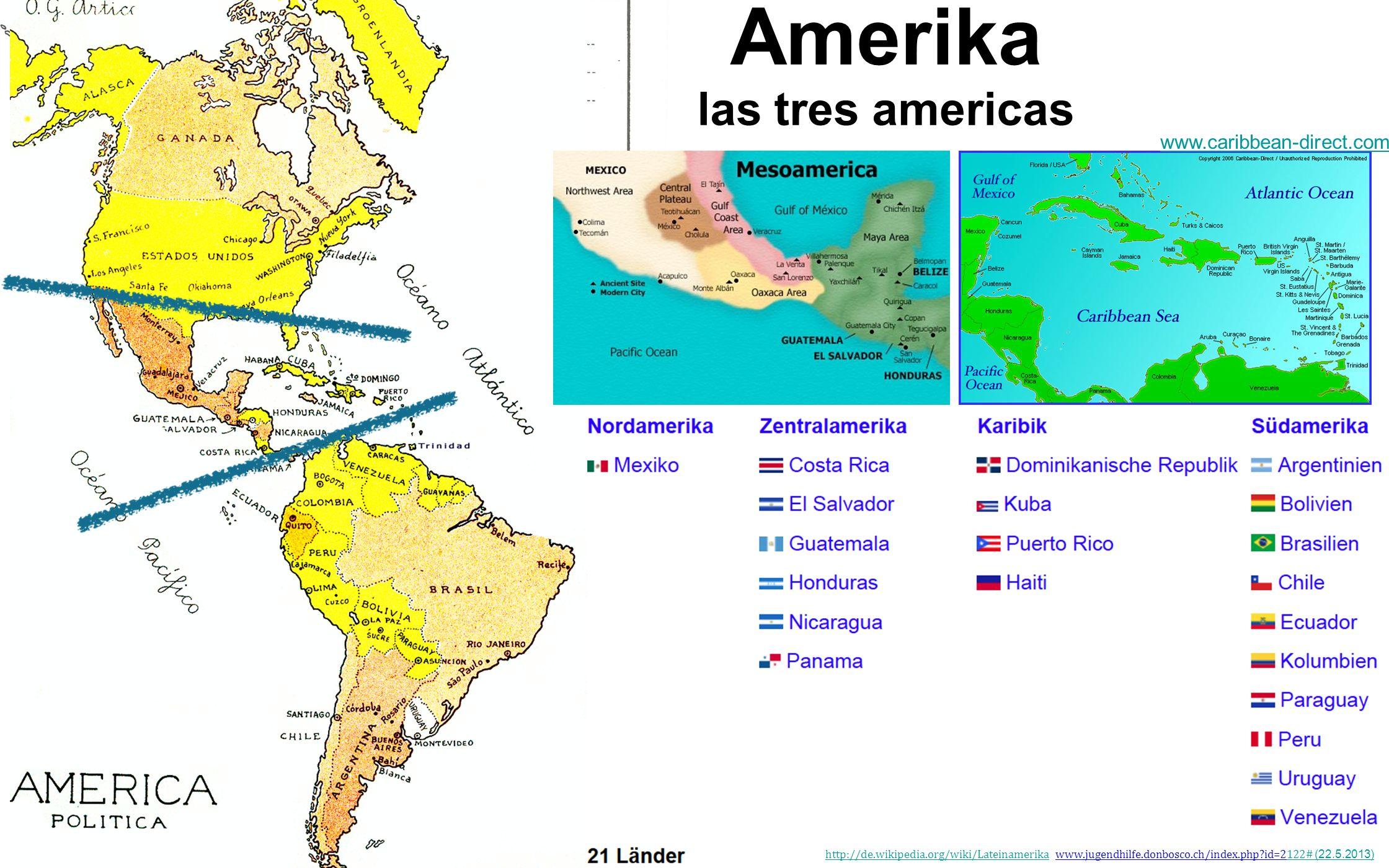 Amerika las tres americas www.caribbean-direct.com/