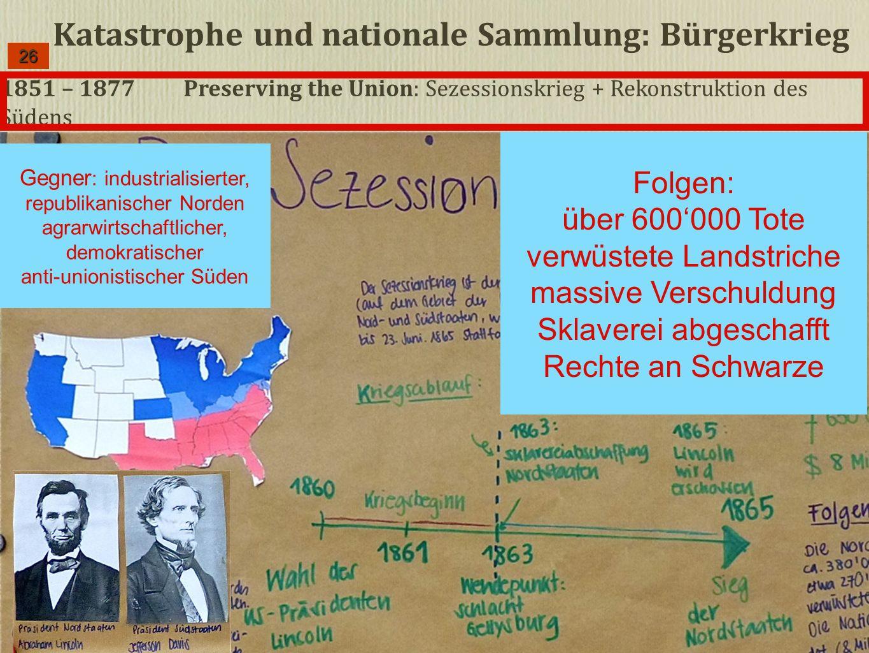 Katastrophe und nationale Sammlung: Bürgerkrieg