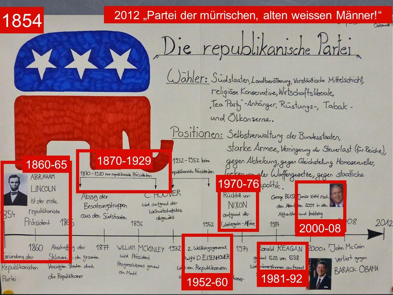 """2012 """"Partei der mürrischen, alten weissen Männer!"""