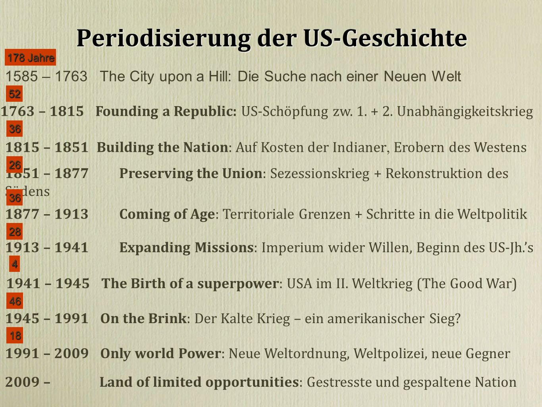Periodisierung der US-Geschichte