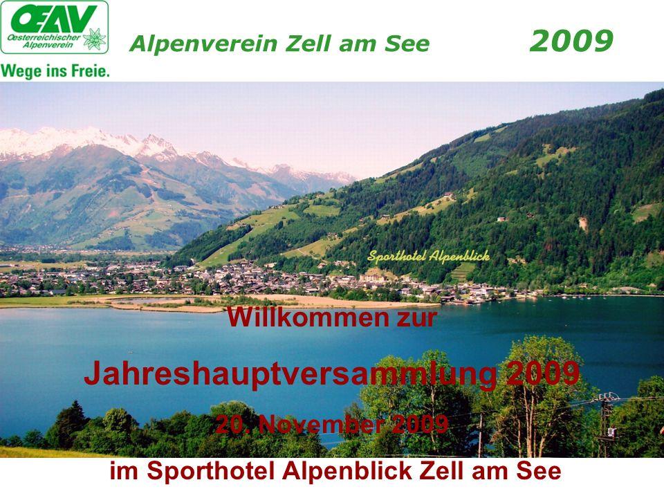 Jahreshauptversammlung 2009 im Sporthotel Alpenblick Zell am See