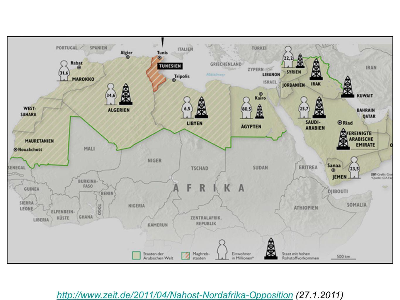 http://www.zeit.de/2011/04/Nahost-Nordafrika-Opposition (27.1.2011)