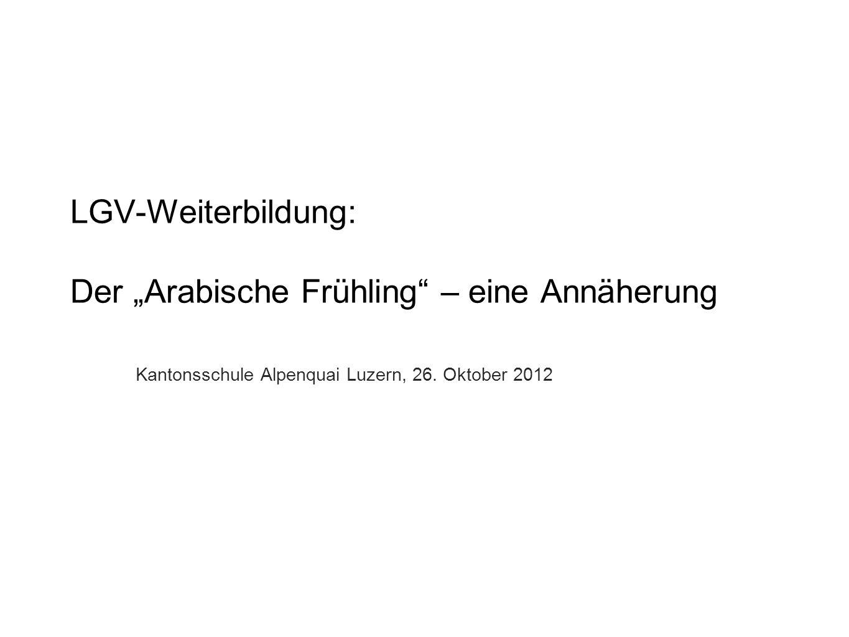 """LGV-Weiterbildung: Der """"Arabische Frühling – eine Annäherung"""