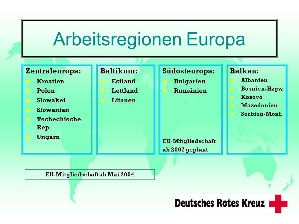 Arbeitsregionen Europa