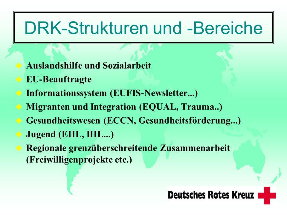 DRK-Strukturen und -Bereiche